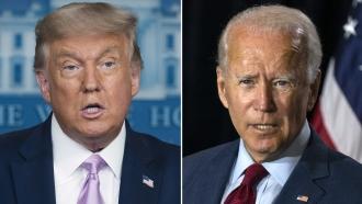 President Donald Trump and former Vice President Joe Biden