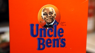 "The portrait of ""Uncle Ben's"" is portrayed on a box of rice Thursday, June 18, 2020 in Jackson, Miss."