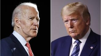 Vice President Joe Biden, left, and President Donald Trump, right.