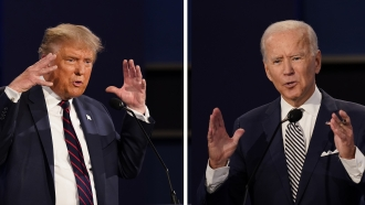 President Donald Trump and former Vice President Joe Biden during the first presidential debate.