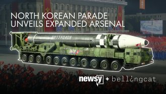 North Korea showed off its largest ICBM during a military parade.