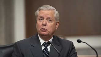 Sen. Lindsey Graham, speaks during a Senate Judiciary Committee Executive Business meeting