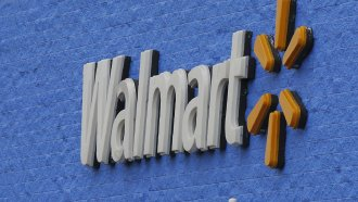 Signage is pictured at a Walmart store in Oklahoma City.