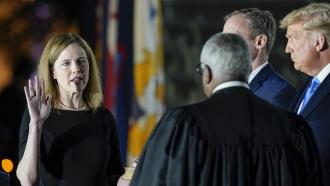 Amy Coney Barrett sworn into The White House