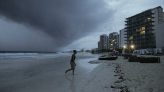 Hurricane Zeta approaches Cancun, Mexico