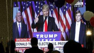 President Donald Trump on election night.