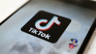 TikTok app on smartphone