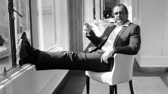 Renowned British actor Sean Connery, famous for his role as secret agent James Bond 007, relaxes at a London hotel