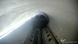 Still frame from video of Virgin Hyperloop One