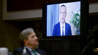 Facebook CEO Mark Zuckerberg attends hearing virtually