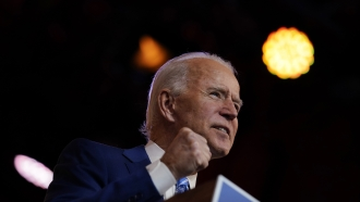 President-Elect Joe Biden speaks in Delaware on Nov. 25