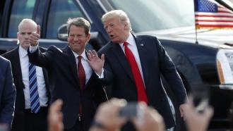 President Donald Trump, Georgia Gov. Brian Kemp