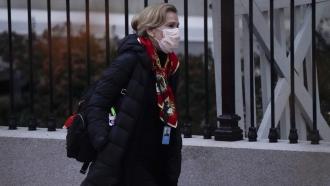 Dr. Deborah Birx, White House coronavirus response coordinator, leaves the White House Tuesday, Dec. 1, 2020, in Washington.