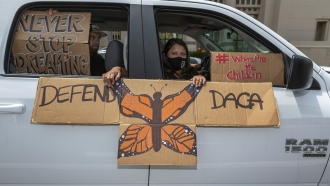 Immigrant family joins protest in favor of DACA