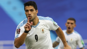 Uruguayan striker Luis Suarez is accused of cheating on his citizenship test.