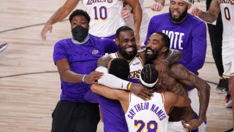 Los Angeles Lakers celebrate 2020 finals win