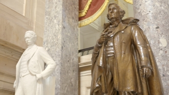 Two Confederate statues on display in the U.S. Capitol