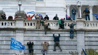 Pro-Trump rioters breach the Capitol