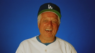 Hall of Fame manager Tommy Lasorda.