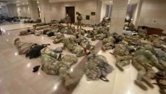 National Guard members sleep in Capitol