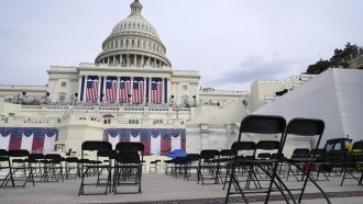 U.S. Capitol decorated for Presidential Inauguration