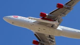 Virgin Orbit Boeing 747-400 rocket launch platform, named Cosmic Girl
