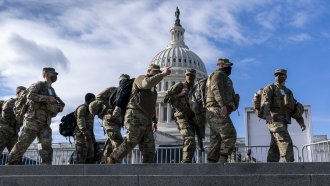National Guard troops reinforce security around the U.S. Capitol