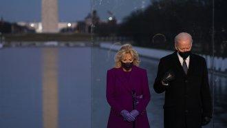 President-elect Joe Biden and his wife Jill Biden participate in a COVID-19 memorial