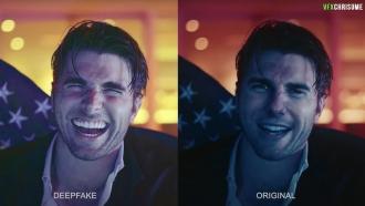 Deepfake video of Tom Cruise compared to original video