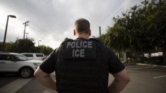 A file photo of an ICE agent