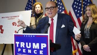 former Mayor of New York Rudy Giuliani, a lawyer for President Donald Trump,