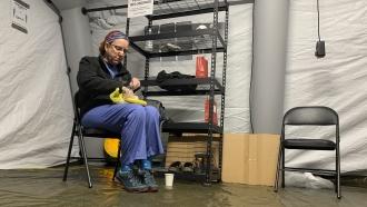 Nurse for Samaritan's Purse sits in North Carolina tent hospital
