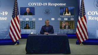 Jeff Zients, White House coronavirus response coordinator, speaks.