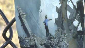 A picture of the 9/11 site.