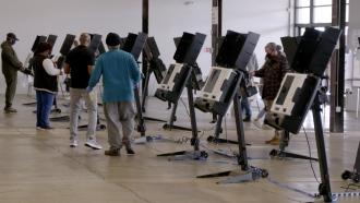Polling precinct in Washington D.C.