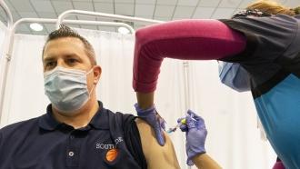 Greg Brennan, a teacher and basketball coach at Southside High School, is vaccinated.