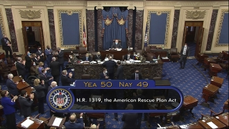 The American Rescue Plan narrowly passed the Senate this weekend.