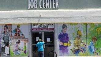 A job center in California.