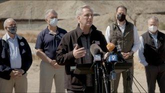 House Minority Leader Kevin McCarthy and a GOP delegation at the U.S.-Mexico border