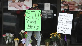 People protest anti-Asian attacks