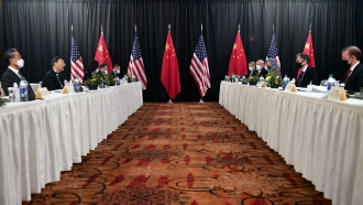 Chinese and American diplomats