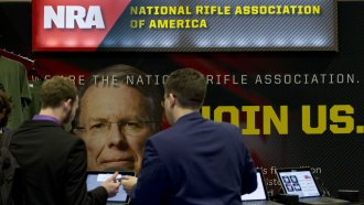 The NRA advertises at CPAC in 2019.