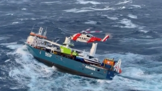 The cargo ship, Eemslift Hendrika, sway abandoned off the coast of Norway after engine failure