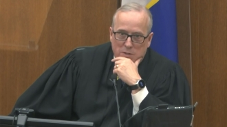 Hennepin County Judge Peter Cahill discusses motions before the court Monday, April 12, 2021