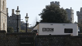 BBC news vehicle