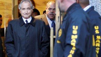 Bernie Madoff at a bail hearing