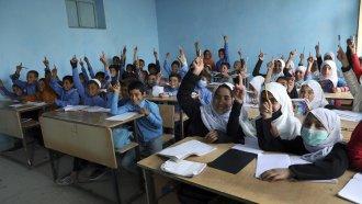 Students at Kabul school