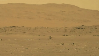 NASA's experimental Mars helicopter Ingenuity lands on the surface of Mars