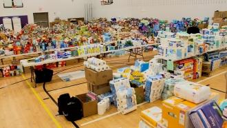 Donations at a Brooklyn Center School