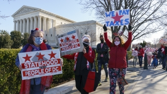 Supporters of D.C. statehood